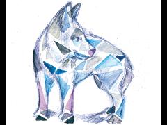 Einsamer Medien Wolf sucht